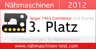 Singer 7463 Confidence Platz 3 in 2012