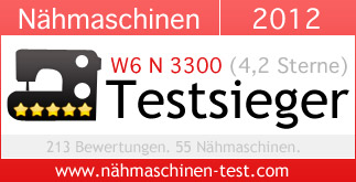 W6 N 3300 Nähmschinen-Testsieger 2012
