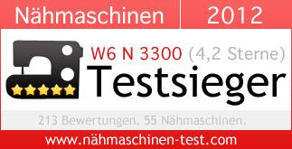 n hmaschinen testsieger 2012 w6 n 3300 mit top. Black Bedroom Furniture Sets. Home Design Ideas